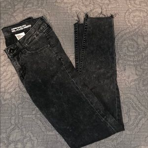 Black Acid Washed Jeans